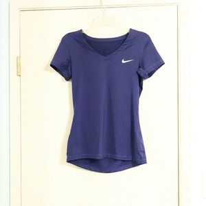 Nike Purple Fitted Athletic Tee Shirt